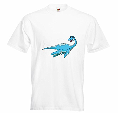 T-shirt Remera Risa de dinosaurus El Reptil Urzeit roofdieren LAGARTOS Pool dinosaurus vogel bekken Tyrannosaurus Rex in wit