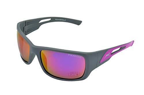 Gamswild Gafas de sol WS8132 deportivas, de esquí, para hombre y mujer, para bicicleta