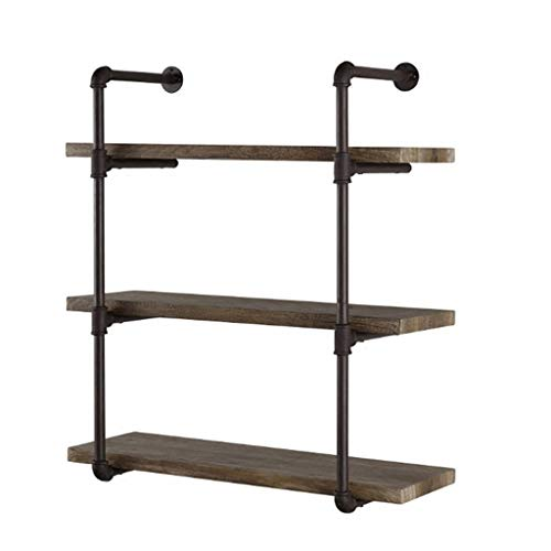 YLongFEI Plant Stand Shelf Hoek Frame Klapbord Opslag Stand Houten Display Boekenplank Industriële Metalen Beugels Eindeloze Diy Combinatie Waterpijp Finish IJzer En Hout