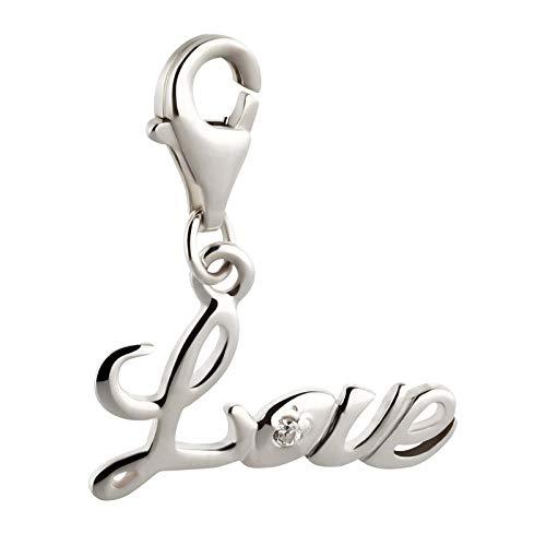 FIVE-D Charm Liebe Love Kristall 925 Sterling Silber im Schmucketui Armband Anhänger Bettelarmband