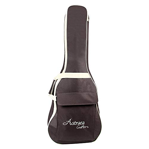 Gitarrentasche Dichte Oxford Nylon Gig Bag Gepolsterte Gitarrentasche für Konzertgitarre Akustik- und Klassikgitarre Wasserdicht Stoßfest (Kaffeebraun)
