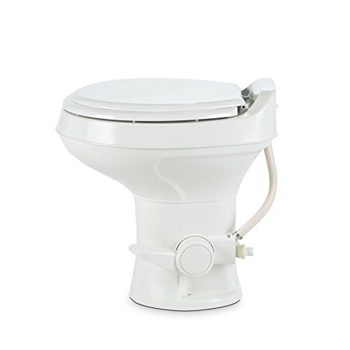 Dometic 300 Series Standard Height Toilet w/ Hand Spray, White