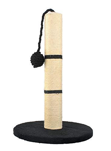 MALATEC Kratzbaum ökologisch Kratzsäule für Katzen, freistehend, Kratzstange mit Sisalstamm & Spielball, in 4 Farben Höhe 45 cm 7931, Farbe:Schwarz
