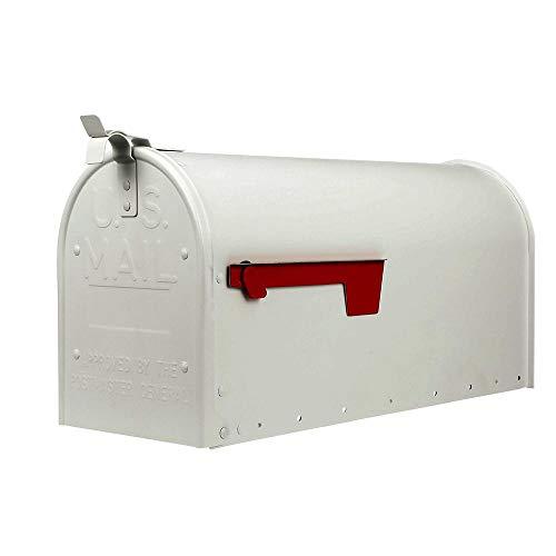 Gibraltar Mailboxes ADM16W01 Admiral Large Post-Mount Mailbox, White