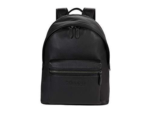 COACH Charter Backpack in Refined Pebbled Leather Ji/Black One Size