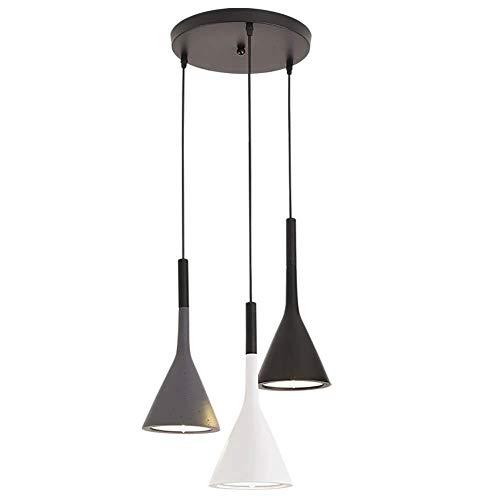 Plafondlamp 3 hoofden Scandinavische kroonluchters, moderne minimalistische hanglampen voor woonkamer slaapkamer hal bar, zwart