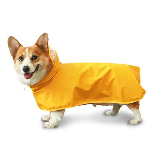 Vestiti per animali domestici Cane impermeabile a quattro zampe all-inclusive tamponante impermeabile leggero Poncho a pioggia traspirante per cani per...