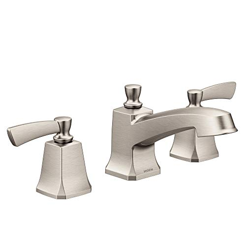 Moen 84926SRN Conway Two-Handle Widespread Bathroom Sink Faucet with Valve Included, Spot Resist Brushed Nickel