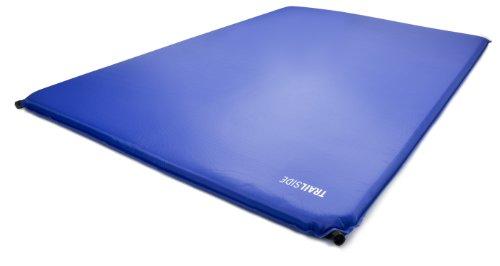 Trailside TrailRest Double-Wide Self-Inflating Mattress, 72x48x1.2-Inch/Regular
