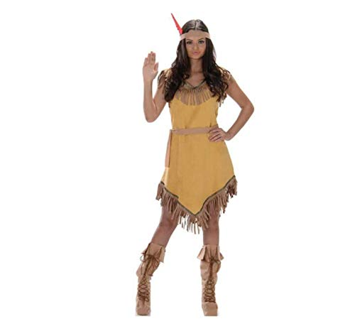 Karnival- Indian Girl Costume Disfraz, Color marrón, medium (81048)