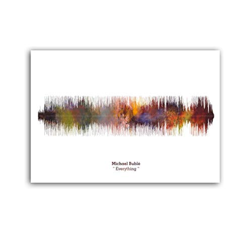 LAB NO 4 Michael Bublé Everything Song Soundwave Print Music Lyrics Poster in A3 Size