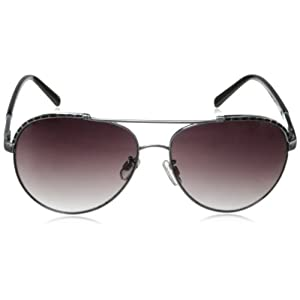Rocawear R547 UV Protective Aviator Sunglasses | Wear All-Year | A Groovy Gift, 60 mm, Silver & Black