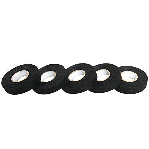 Carrfan 5 Rollos Cableado Cableado Telar Cable Cinta de Cables Telares Arnés de cableado Tela Cinta de Tela Adhesiva para automóvil 15 m 19 mm
