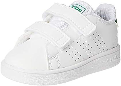 adidas Advantage I, Zapatillas de Estar por Casa Unisex niños, Multicolor (Ftwbla/Verde/Gridos 000), 27 EU