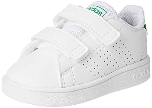 adidas Advantage I, Sneaker, Footwear White/Green/Grey, 25 EU