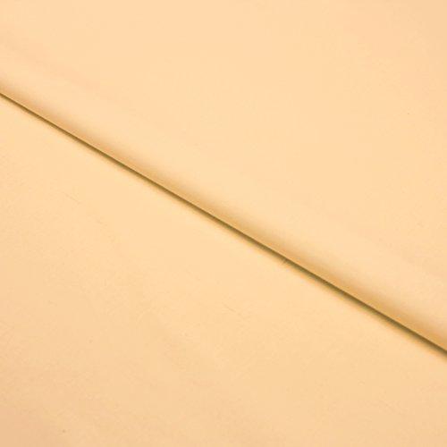 Hans Textiel-Shop stof per meter katoen Linon (effen, effen, stof, getest op schadelijke stoffen, onderhoudsvriendelijk, ca. 140 g/m², ca. 145 cm breed, 1 meter) (abrikoos)