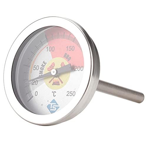 Happyyami Horno 0-250 Smoahumador de Acero Inoxidable para Cocinar Horneado Calentamiento de Fumar
