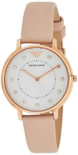 Emporio Armani Damen Analog Quarz Uhr mit Leder Armband AR2510