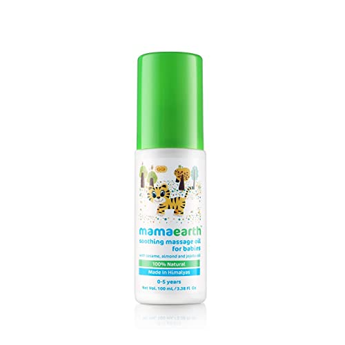 Mamaearth Soothing Baby Massage Oil, with Sesame, Almond & Jojoba Oil - 200ml