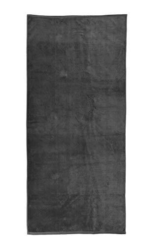 jilda-tex Uni-Strandtuch 100% Bio-Baumwolle 80x180 cm Badetuch Strandlaken Handtuch (Grau)