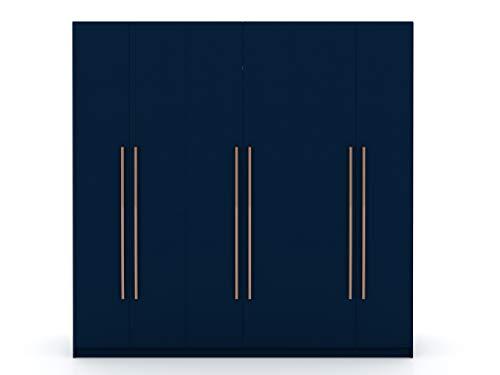 Manhattan Comfort Gramercy Contemporary Modern Freestanding Wardrobe Armoire Closet, 82.48', Tatiana Midnight Blue