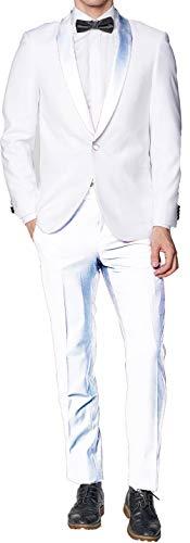 Broadway Tuxmakers Herren-Jacke mit Schal und Schal, Weiß - Weiß - 56 Regulär