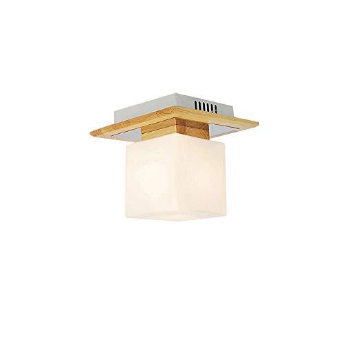 Flush Plafond Licht Plafond Lampen Plafond Lampen Japan Houten Slaapkamer Plafond Licht Wit Vierkant Glas Lampenkap Woonkamer Plafond Lamp Balkon Gang Plafond Lampen