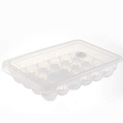Réfrigérateur Boîte à oeufs de stockage frais Ménage Plateau à oeufs antichoc en plastique Boîte à oeufs empilables multicouches