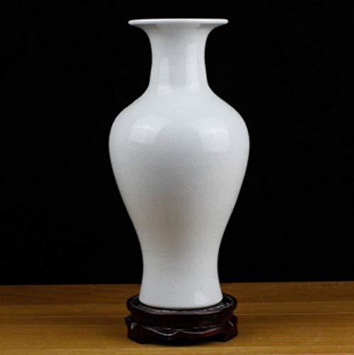 Porzellan Moderne Mode Weiß Porzellan Vase Ornament Dekoration Einrichtung Wohnzimmer Dekoration Höhe 27 * 13 cm