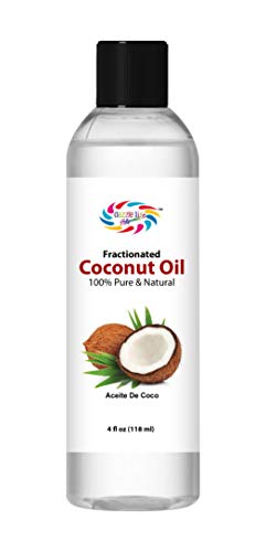 Fractionated Coconut Oil (Aceite de Coco) Medium Chain Triglycerides,100% Pure & Nature,Best Carrier Oil use for Massage,Aromatherapy. Hair,Beauty & Skin Care. Moisturizer & Softener(4 OZ)