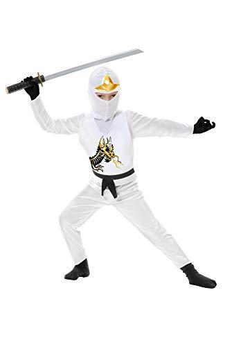 Charades Costume de ninja Avengers série II pour enfant Blanc Taille M