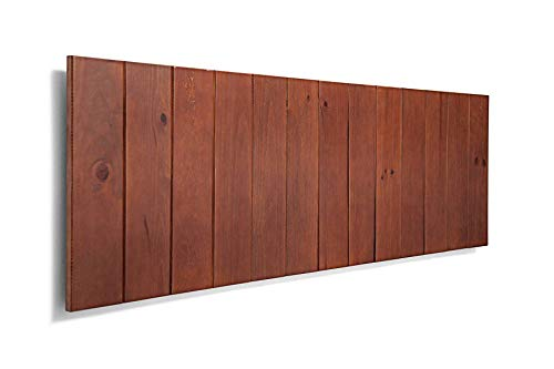 SUENOSZZZ-ESPECIALISTAS DEL DESCANSO Cabecero de Cama de Madera ANETO Color Nogal para Pared. Cabecero de Tablas Verticales. Estilo Vintage, para Camas de 90 y 105