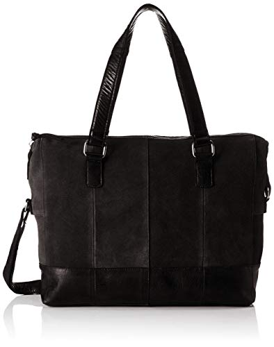 PIECES Damen Pcbaya Suede Daily Bag Umhängetasche, Schwarz (Black), 10x25x35 cm