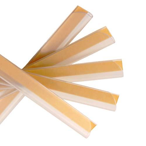 Klemmschienen selbstklebend | Transparent | DIN A4 | 3-4 mm Füllhöhe | 10 oder 100 Stück | Klemmschiene zur Nachrüstung von Mappen und Ordnern / 10 Stück