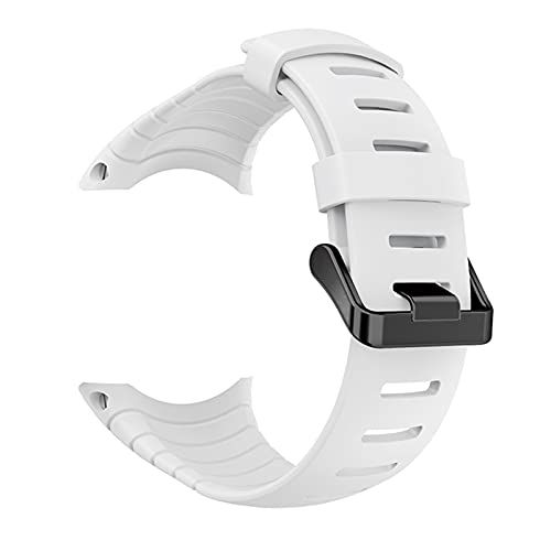 PZZZHF Correa de Reloj de Silicona para la Pulsera de la Pulsera de la Banda de Reloj de Suunto Core para la Banda de Relojes de reemplazo de Suunto Core Accesorios (Band Color : White)