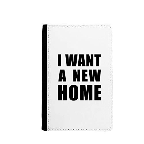 Ik wil een nieuw huis paspoort houder reizen portemonnee hoesje kaart portemonnee