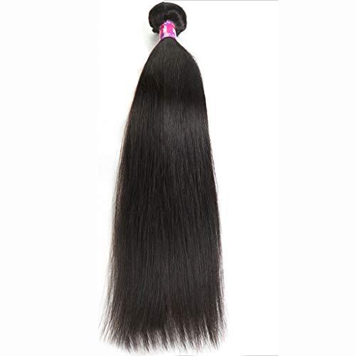 WUX Mesdames perruque-noire longue chaleur droite peut être chaud perruque teinte vrais cheveux partie de mariage (Size : 8)