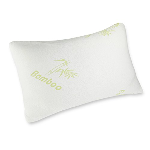 Caravalli Bamboo Memory Foam Pillow, Bristol Hotel Collection Pillow, Best Luxury Bed Pillow, Cooling Hypoallergenic Pillow Cover Infused with Aloe Vera, King Size Stay Cool White Pillow