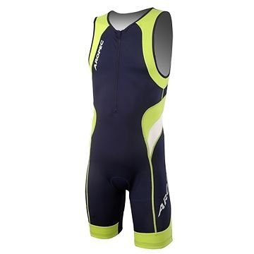 Aropec Lime - Mono deportivo de lycra para hombre (con FPS UV 50+, para correr, triatlón, nadar, ciclismo, talla XXL)