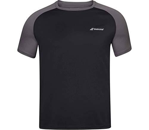Babolat Play Crew Neck tee Men Camiseta, Hombre, Black/Black, 2XL