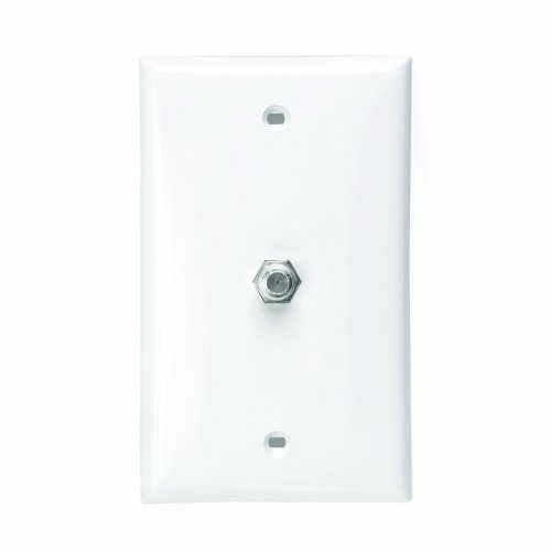 Leviton 80781-W Standard Video Wall Jack, F Connector, White