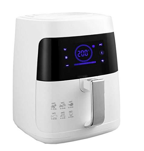 NANXCYR Digitale LCD-luchtfriteuse voor gezond koken met laag vetgehalte, multifunctionele friteuse – frituren, oven en braden, 2,5 l, 1400 W, wit
