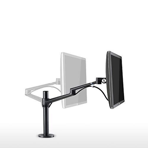Doppelarm Stehpult Aluminium Computerbildschirm Stand for einfache Höheneinstellung for Bildschirme bis 32 Zoll-360 ° Schwenkarm Geeignet für die Arbeitsumgebung ( Color : Black , Size : One size )