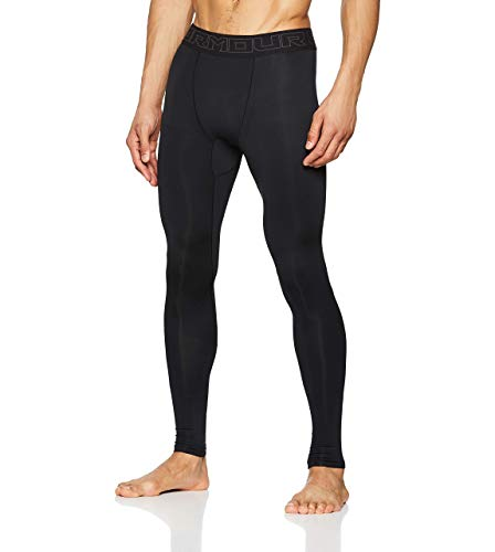 Under Armour Coldgear Leggings, Hombre, Negro (Black/Charcoal), M