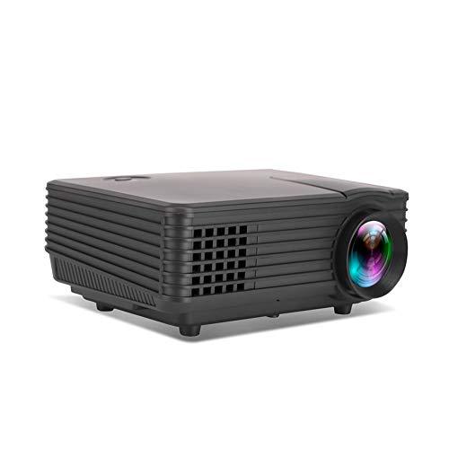 HUIIT Videoproiettore Mini Proiettore Portatile A LED HD Proiettore Cinematografico Risoluzione 1080P Supportato per L'home Office, Compatibile con PC/TV/Dvd/USB/SD/AV/HDMI,Bianca