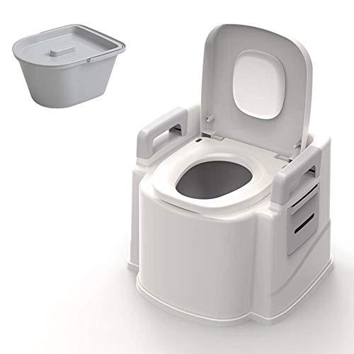 LXTIN Home Inodoro portátil para Adultos con reposabrazos para Ancianos Inodoros portátiles de Interior al Aire Libre Simples para Mujeres Embarazadas (Soporte de Carga Fuerte, antidesli