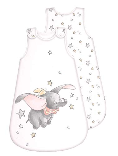 Disney Dumbo Gigoteuse pour bébé – toute l'année – Fermeture éclair intégrale (70 cm)
