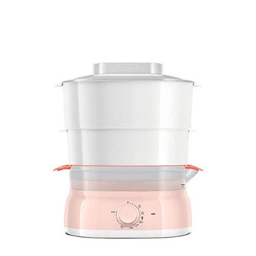 NAFE Elektrischer Dampfgarer | 2-Lagen-Dampfgarer | 755W 220 V, schnell kochendes Gemüse und Instant-Dampffunktion für gesunde Lebensmittel und 5 Liter Fassungsvermögen