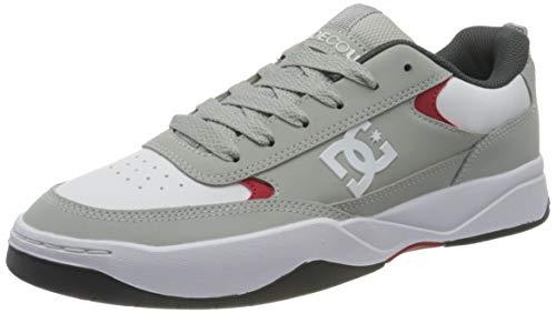 DC Shoes Penza, Zapatillas Hombre, Grey/Red/White, 38.5 EU