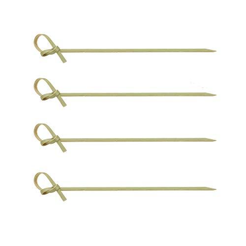 Palillos de cóctel estilo japonés 200pcs | Brochetas de bambú biodegradables de 4.7